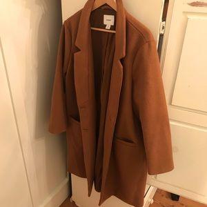Long Brown Wool Trench Coat
